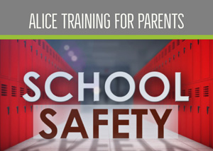 ALICE Training - image of school lockers