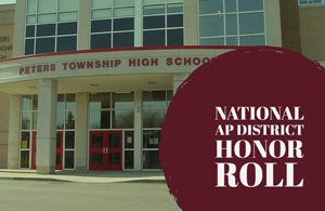 Image of high school with the words National AP District Honor Roll