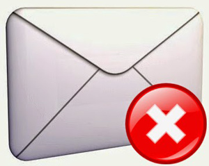 Email envelope with red x