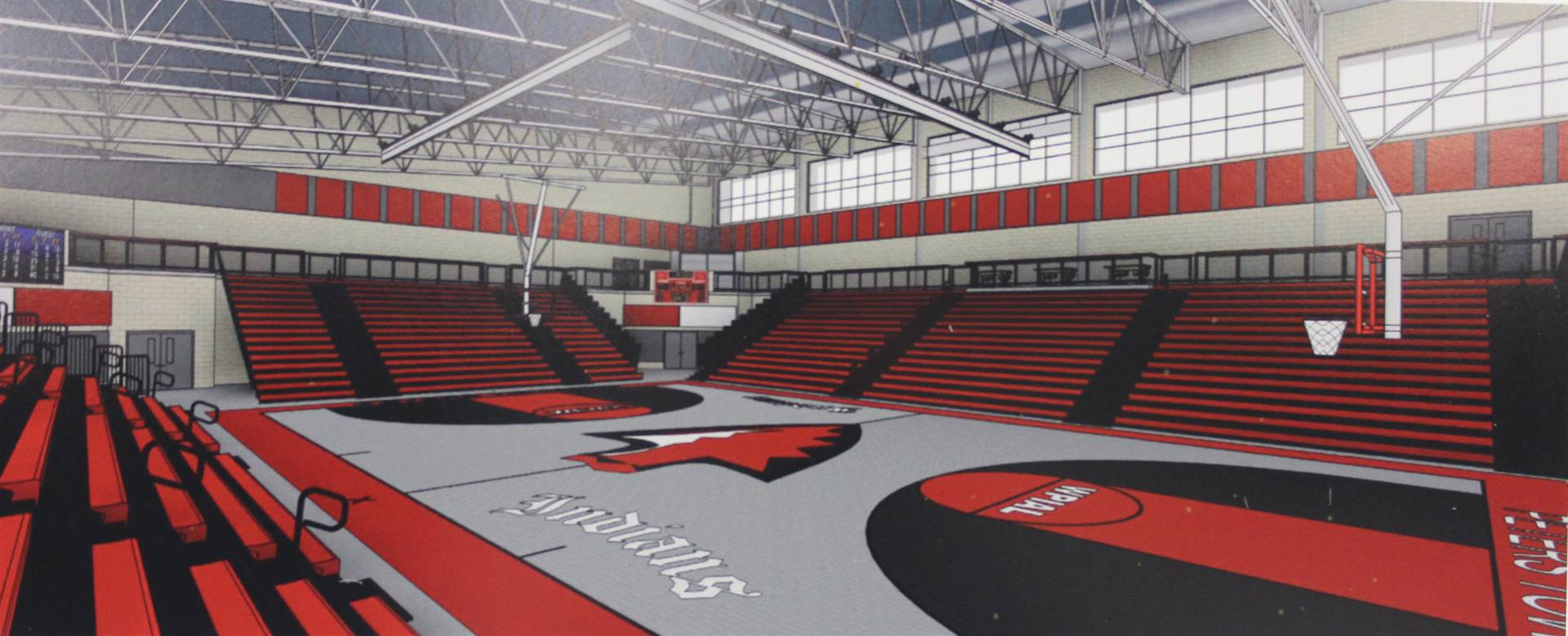 Rendering of the gymnasium.