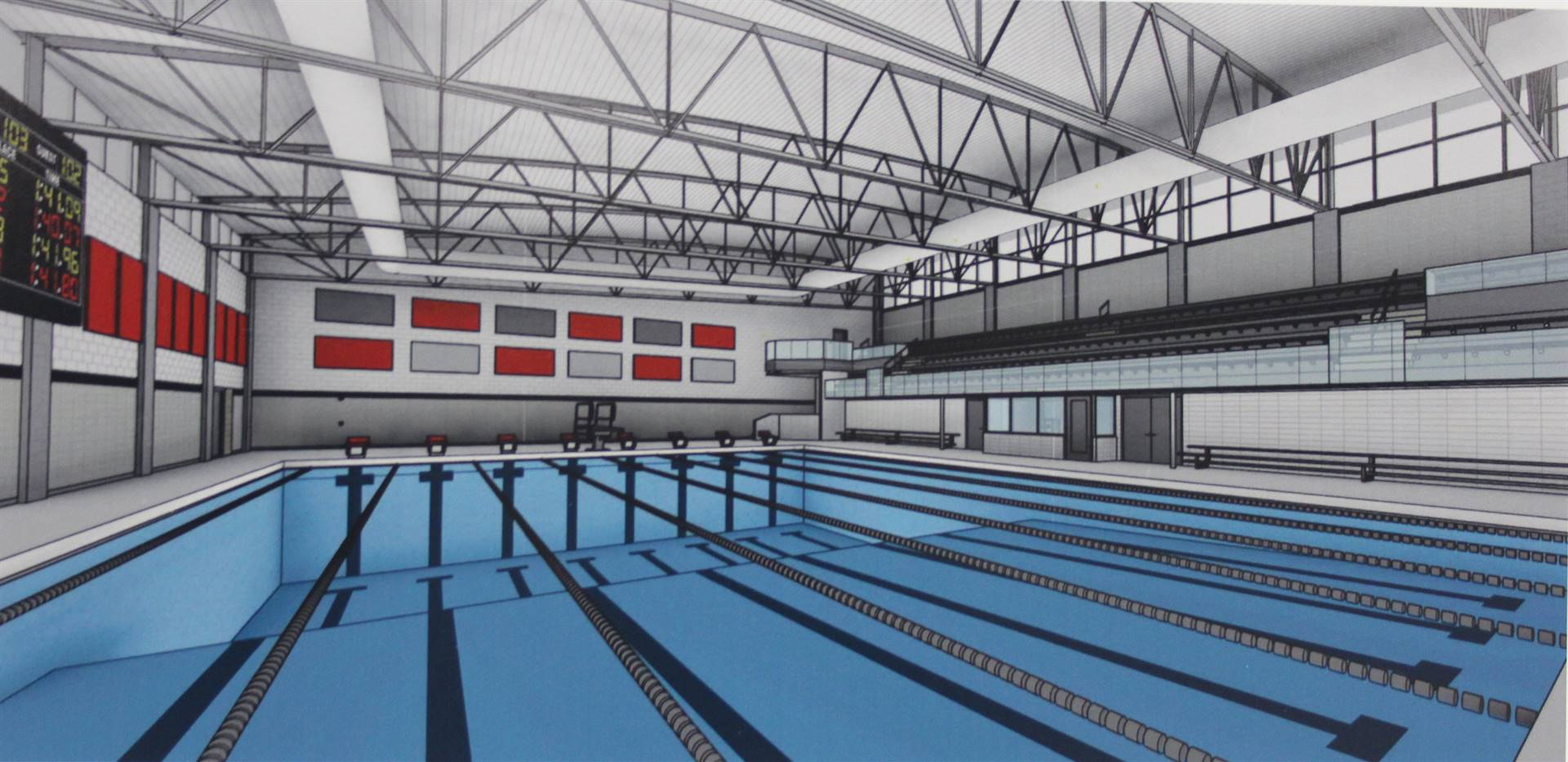Rendering of the natatorium