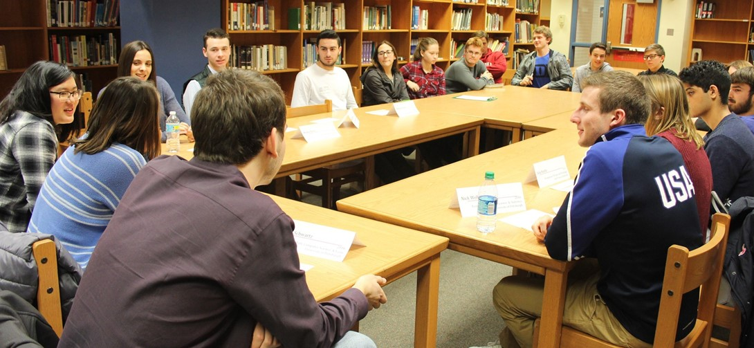 Recent grads formed an alumni panel to talk about college with current students.