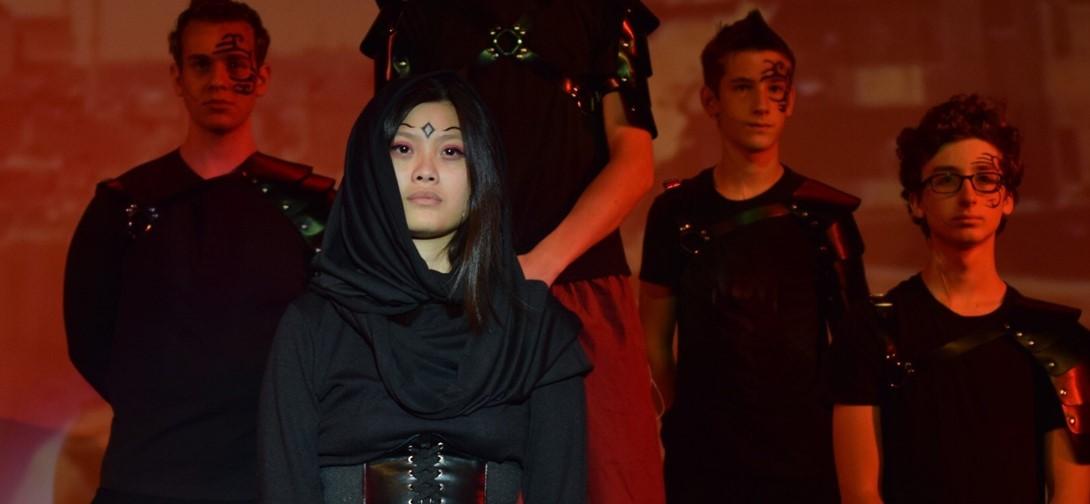 Cast members of Antigone
