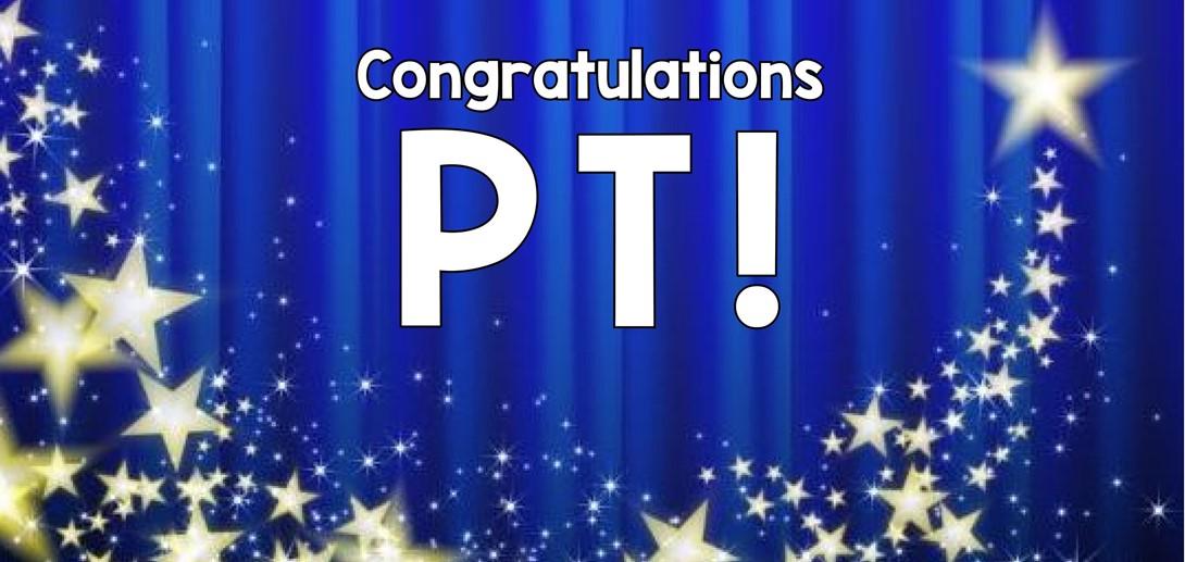Congratulations PT!
