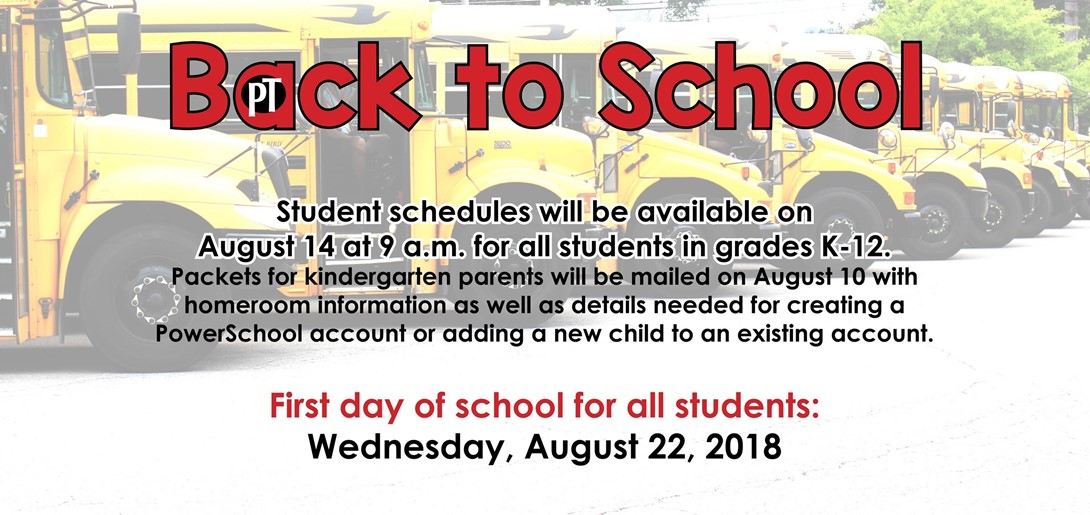 Back to School PowerSchool Info