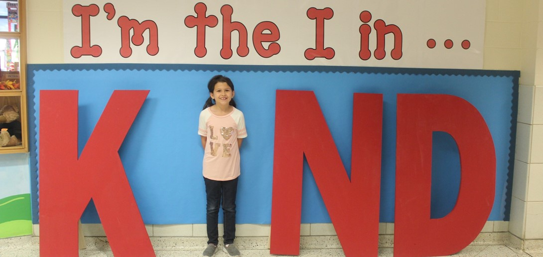"""A student is the """"I"""" in the word KIND."""