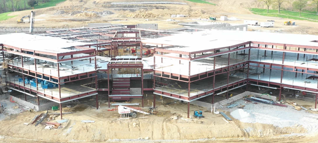 A photo of the construction site on April 23, 2019.