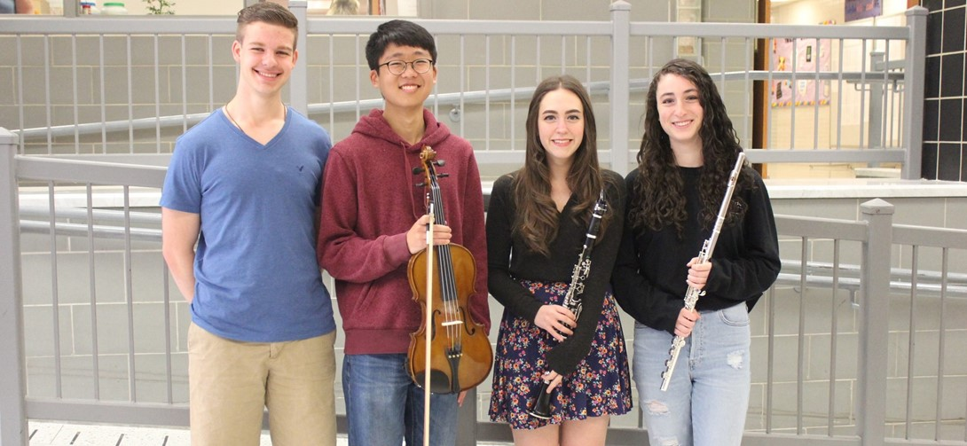 PMEA students with their instruments