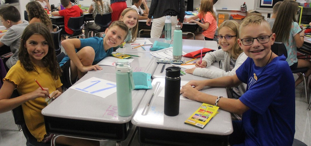 4th grade students are excited to begin the year.