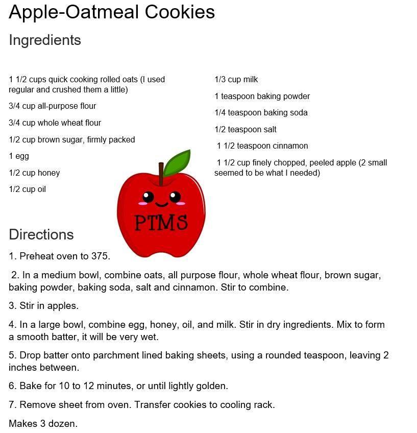Apple-Oatmeal Cookies Recipe