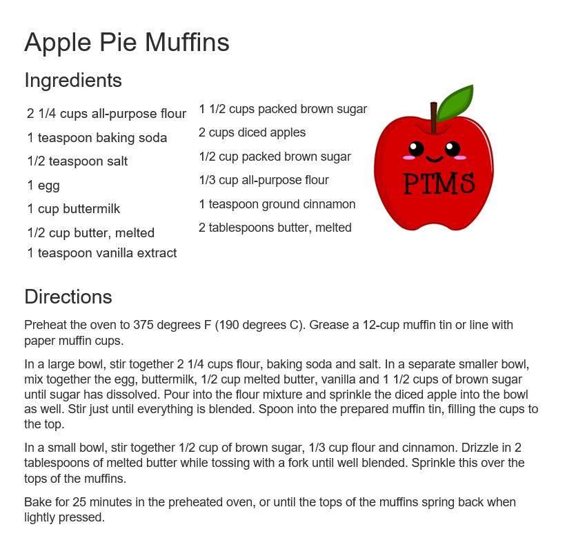 Apple Pie Muffin Recipe