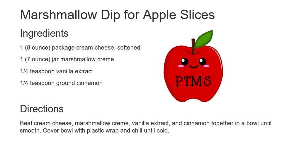 Marshmallow Dip for Apple Slices