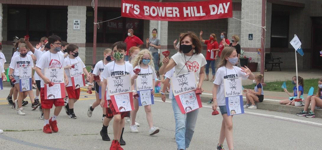 parade of third grade students