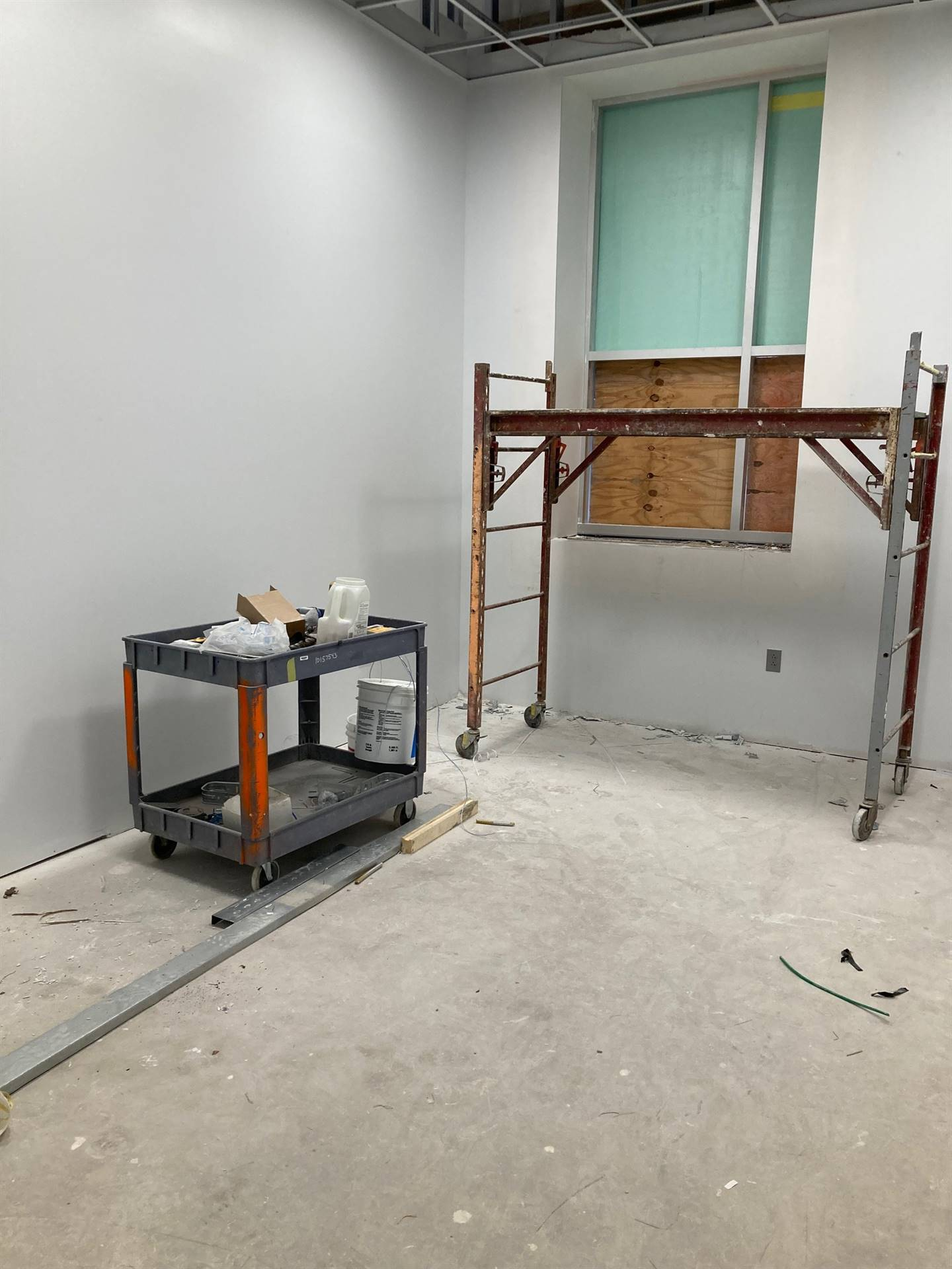Office space in former pool area