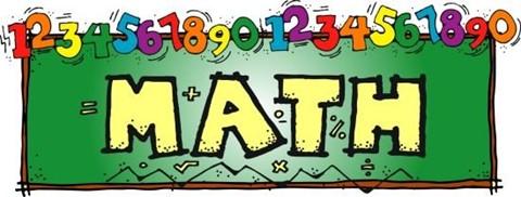 Cartoon of the word MATH on a chalkboard