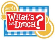 "graphic that says ""What's for lunch"""