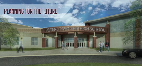 Artist rendering of new front entrance
