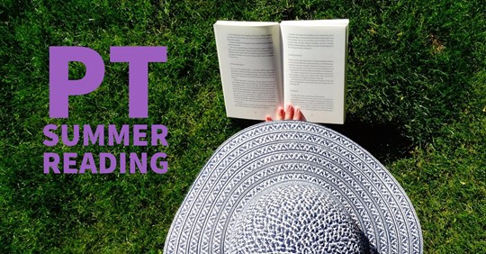 woman in summer hate reading a book