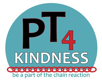 Blue circle with PT4 Kindness